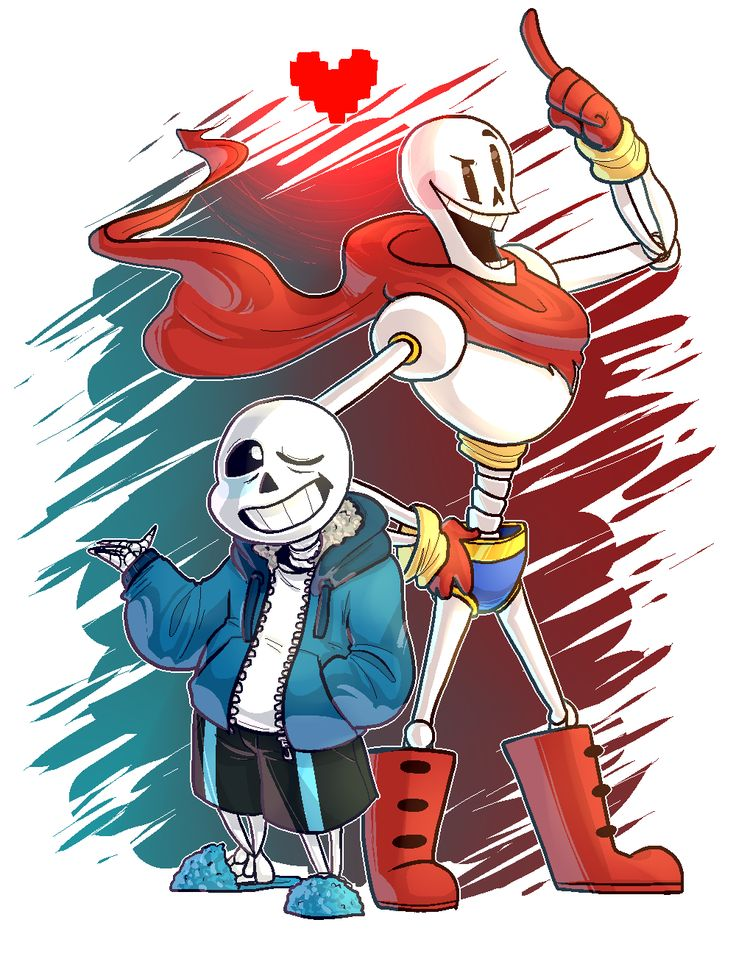 UNDERTALE - Skelebros by Chocolatewoosh.deviantart.com on @DeviantArt