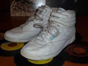 the 80's..hightop Reeboks