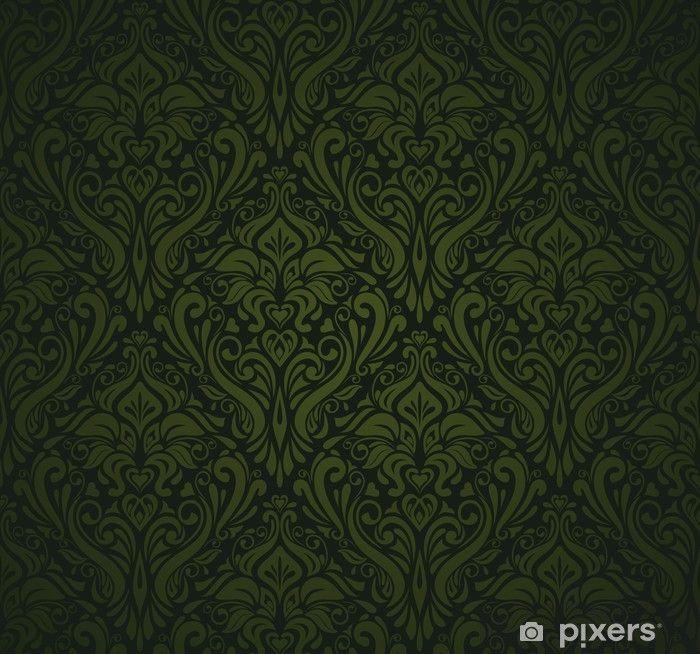 Bildergebnis Fur Tapeten Dunkelgrun Bilder Dark Green Wallpaper Vintage Wallpaper Green Wallpaper
