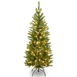 Awesome  Pencil Fir Artificial Christmas Tree with Clear Incandescent Lights