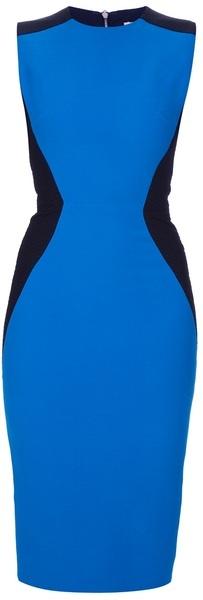 VICTORIA BECKHAM Hourglass Detail Dress - Lyst