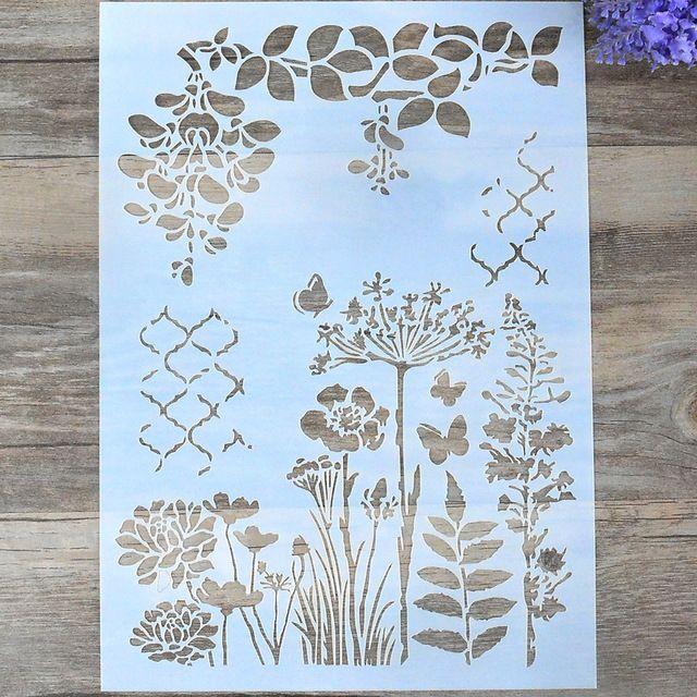 plantillas de capas de flores para paredes que pintan álbumes de recortes v S*