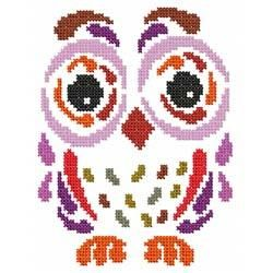 Tribal Art Owl Cross Stitch - A Series of 10 owls (at last count!)