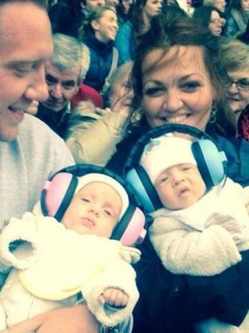 twins Doris Poppet Deakin & Ernest Rupert Atholl Deakin - born: February 10, 2014 - and their parents Johannah Poulston and Daniel Deakin
