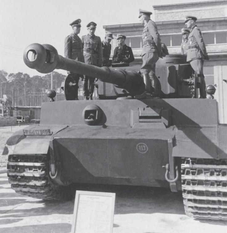 "m4-shemayne: ""Generalfeldmarschall Rommel inspecting one of the very first Tigers Ausf. E"""
