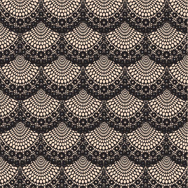 Antique black lace
