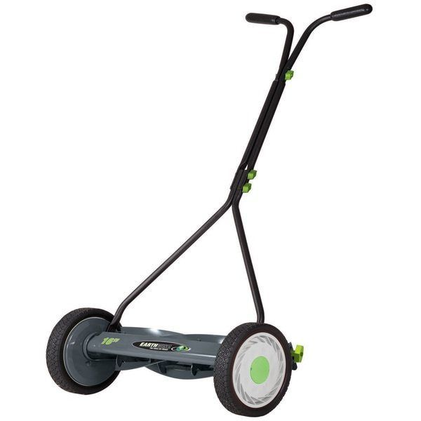Push Lawn Mower Reel Mowers Grass Cutting Supplies Hand Manual  16-inch 7-blade #Earthwise