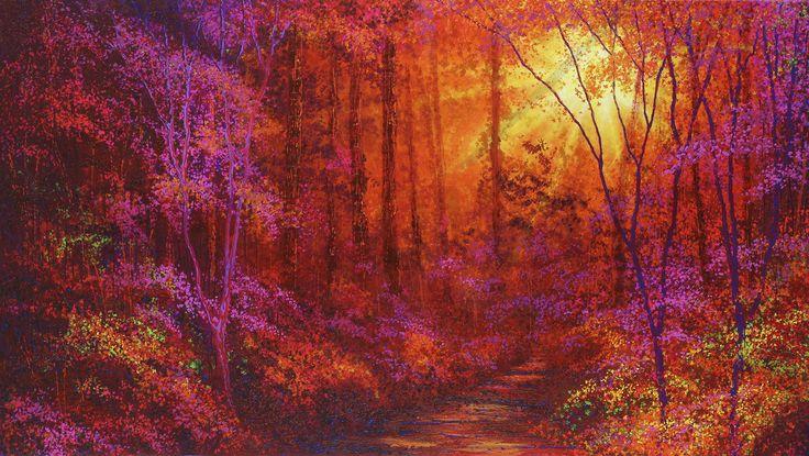 Ruby Forest - Fototapeter & Tapeter - Photowall