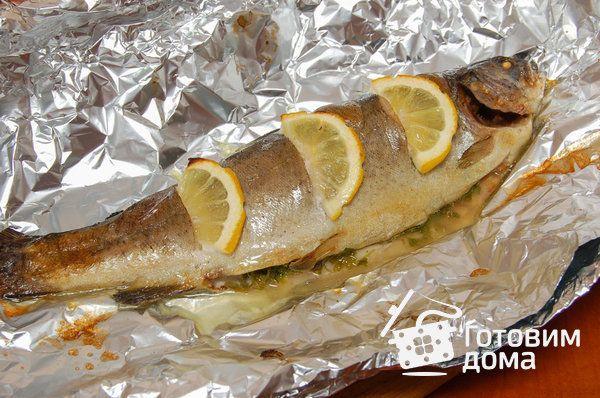 Рецепт Форель, запеченная с лимоном и зеленью