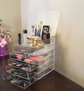 I have the same acrylic box makeup organizer and I absolutely love it!