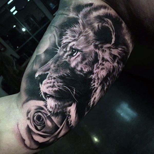 「ライオンの腕のタトゥー」のおすすめアイデア 25 件以上  Pinterest ライオンのタトゥー、ライオン