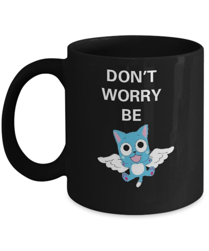 Fairy Tail Anime Series Mug Featuring Happy the Cat. Great gift for anime fan