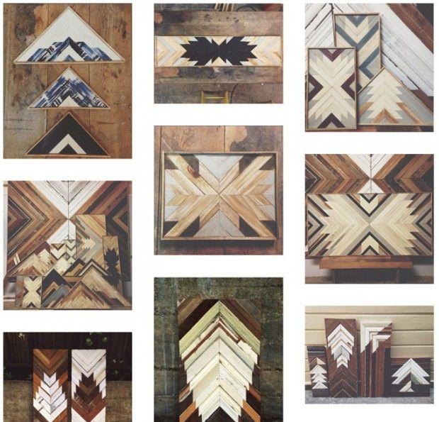 Originaire de Los Angeles, Aleksandra Zee, artisteébéniste, vit et travaille aujourd'hui à San Francisco. Elle récupère des lattes de bois, les travaille,