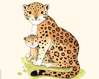 J is voor Jaguar, aquarel, aquarel illustratie, Franse alfabet, alfabet dieren afdrukken, kinderkamer kunst aan de muur, Frans ABC
