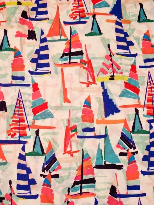 colorful nautical sailboat print via American Gentility
