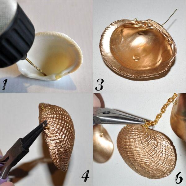 DE TODO UN POCO: Haz un collar de conchas de abanico