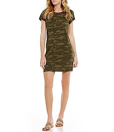 Sanctuary Camo Short Sleeve TShirt Dress #Dillards