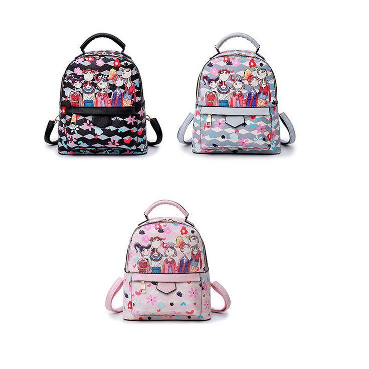 Personalized Floral Printing Shoulder Bag Forest Department Women Girls Backpack