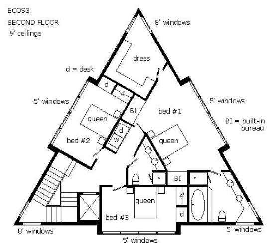 25 best ideas about triangle house on pinterest for Triangular house floor plans