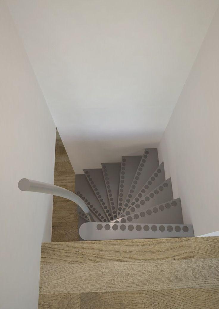 Escada em caracol quadrada 1m2 ® - Interbau Suedtirol Treppen