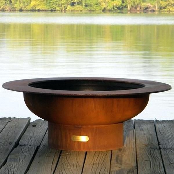 Wood Fire Pit Table Fire Pit Outdoor Fireplaces Fire Pits Wood