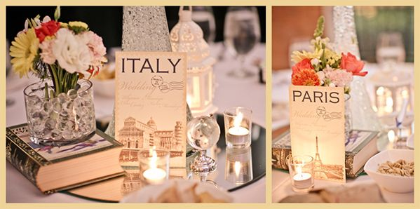 Travel Themed Wedding Table Sets - Jet Setter Wedding 2013