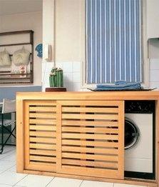 Un rincón en la cocina para el lavadero
