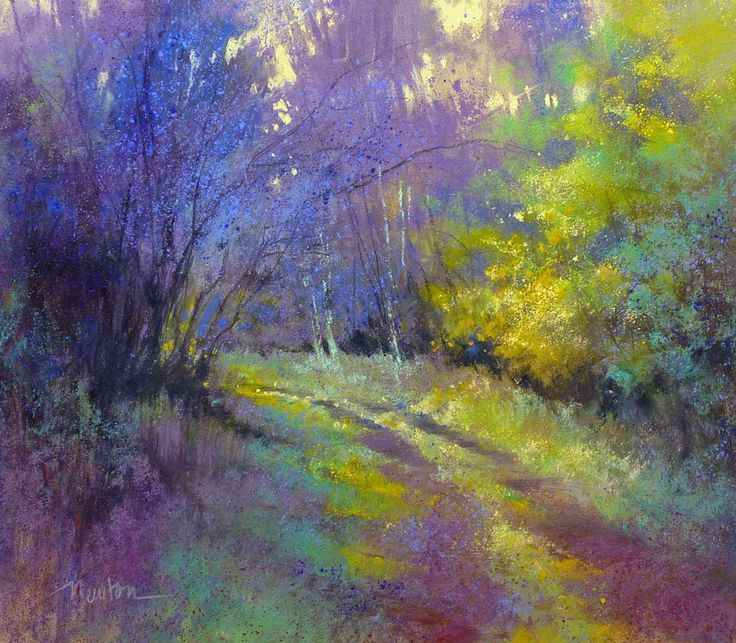 "Barbara Newton, ""Follow your heart"", pastel."