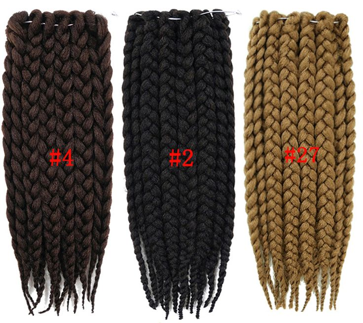 Box Braids Hair Crochet Braid Hair 3X Senegalese Twist Hair Crochet Synthetic Hair Kanekalon Kinky Marley Twist Braids