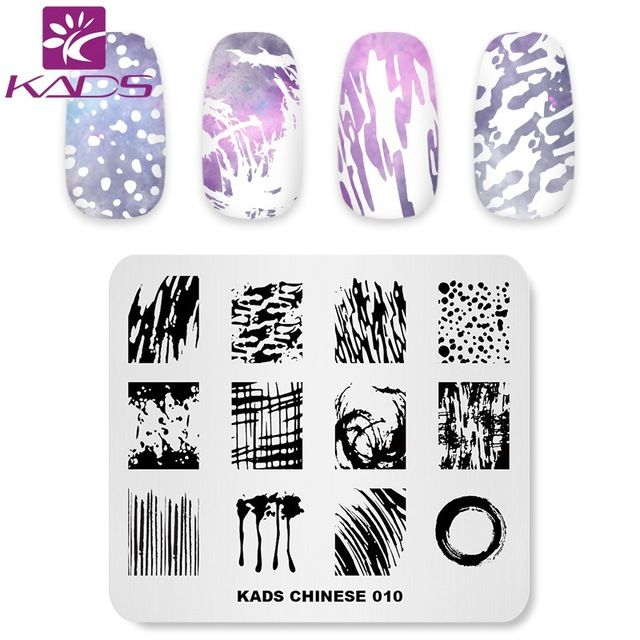 Kads Nail Stamping Plates Chinese 010 Ink Painting Image Template