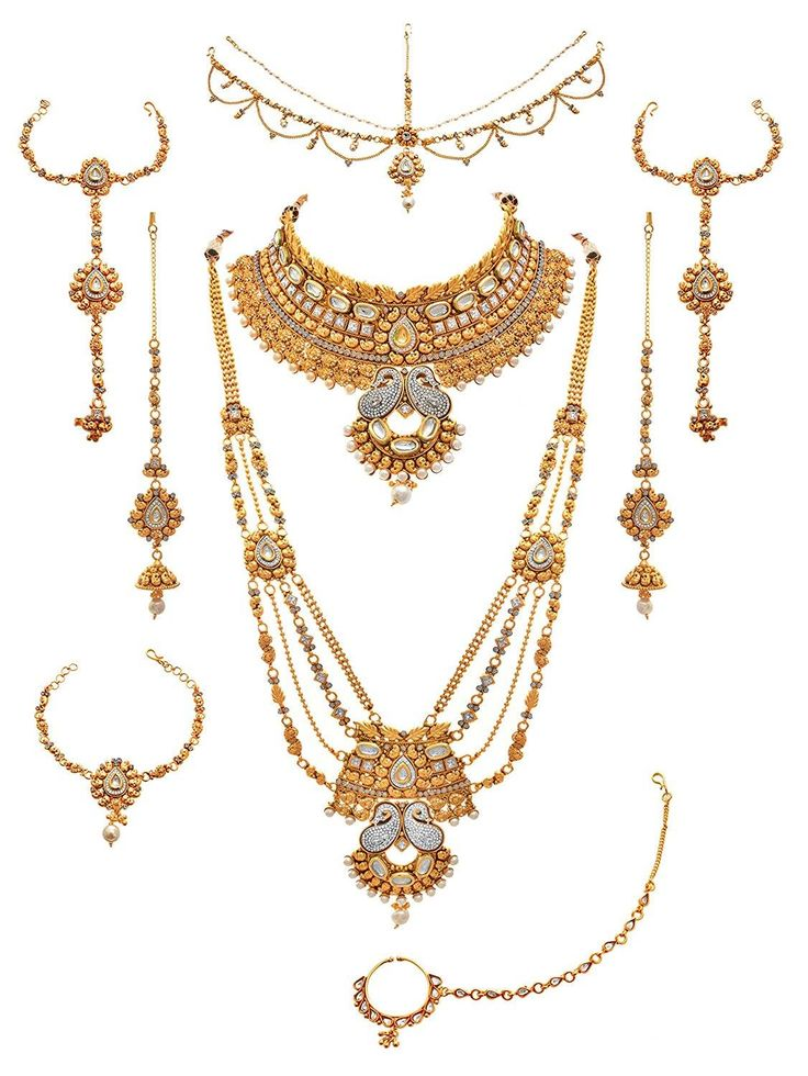 JFL - Traditional Ethnic One Gram Gold Plated Austrian & American Diamond Pearl Real Kundan Kaerie Designer Bridal Dulhan Necklace Set For Women & Girls Plating : 22K One Gram Gold Plated, Material : Made from Good Quality Copper Alloy. OFFER Price INR 8949/- Cash on delivery  Original Price INR 13999/- Product Code: NS-90005861-630-SBJ-140 Free Shipping n COD in India, International Shipping Available. To Order: Pls. forward your complete postal address with landmark, mobile no. n ur email…