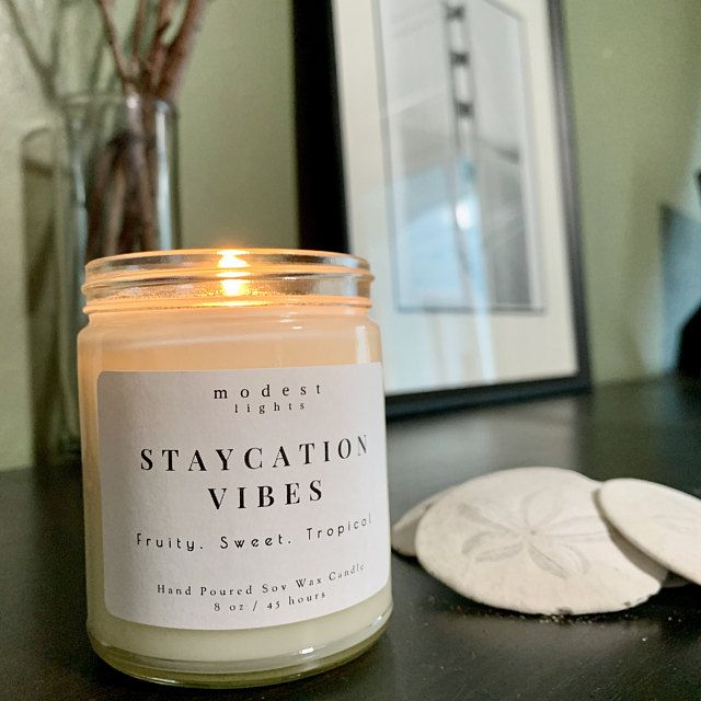 Hand Poured Natural Soy Wax Candle