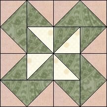 Block of Day for February 12, 2017 - Jack in the Box-strip-piecing-The pattern may be downloaded until: Tuesday, February 28, 2017.