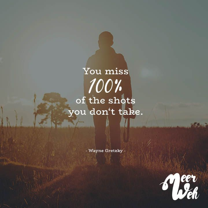 Visual Statements®️ You miss 100% of the shots you don't take. - Wayne Gretzky - Sprüche / Zitate / Quotes / Meerweh / Wanderlust / travel / reisen / Meer / Sonne / Inspiration