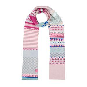Joules Scarves - Joules Fair Isle Scarf - Ice Pink Melange