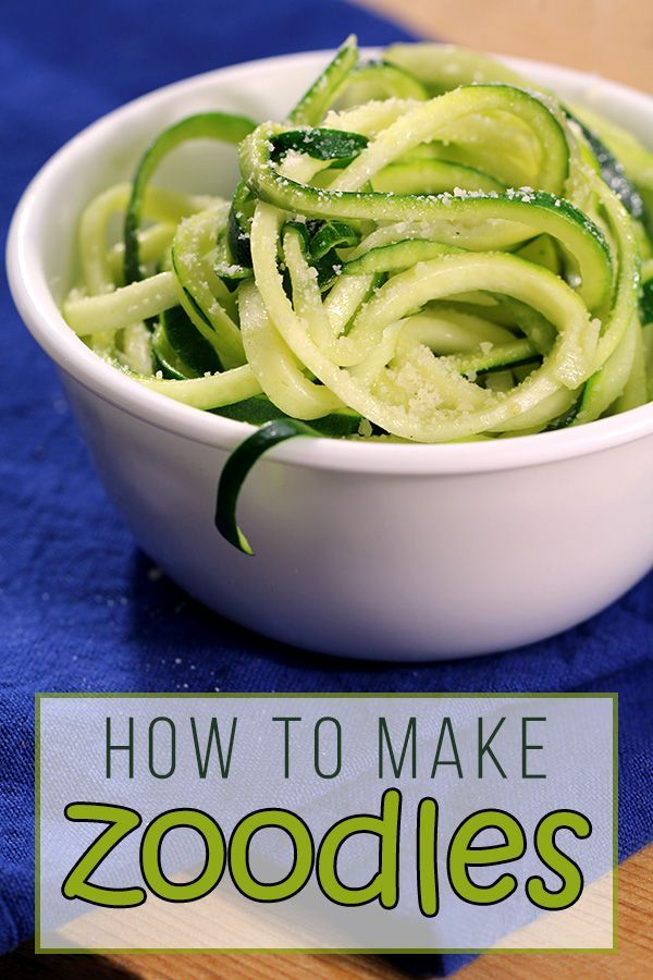 How To Make Zoodles - Low Carb Zucchini Noodles   Easy & delicious low carb side dish for dinner! From Tasteaholics.com