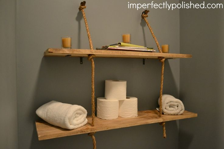 Homemade shelves what are your favorites any other for Simple suspension hanging