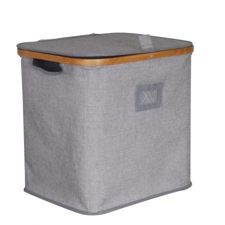 Howards Storage World | Howards Rectangular Laundry Hamper - Bamboo Frame