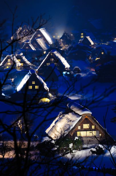 Blue Winter|Shirakawa-go, World Heritage ,Japan Traditional Folk Houses #Gifu #Japan