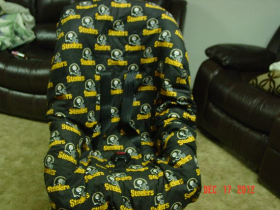 Steelers  toddler car seat cover by littlestitches59 on Etsy, $39.00