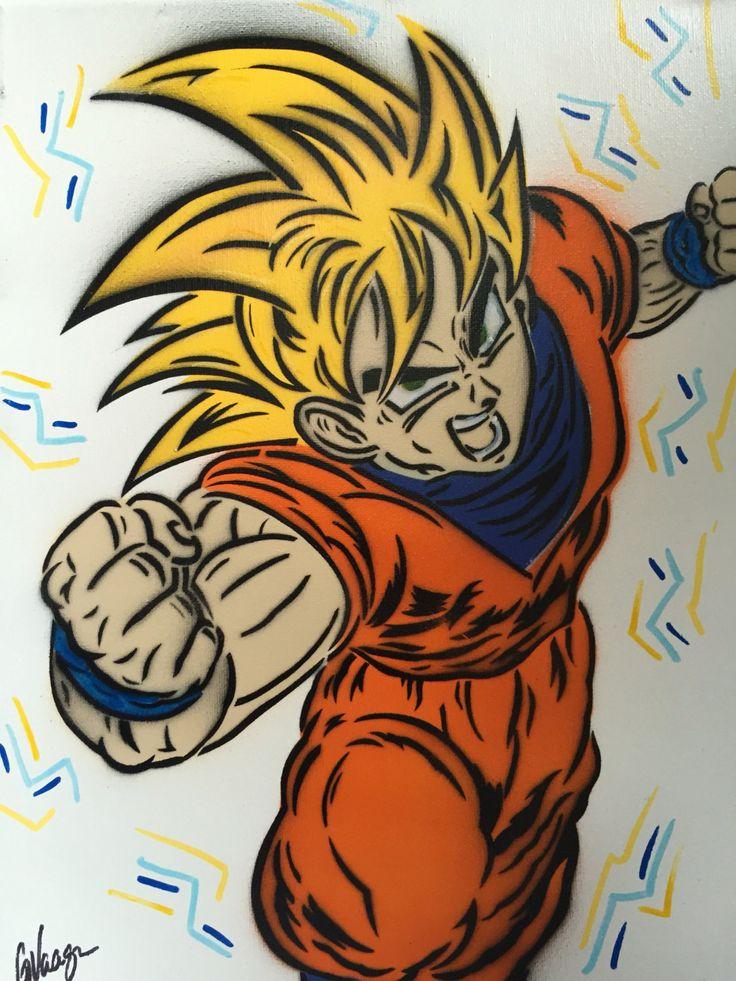 Goku Super Saiyan Dragonball Z Spray Painting DBZ