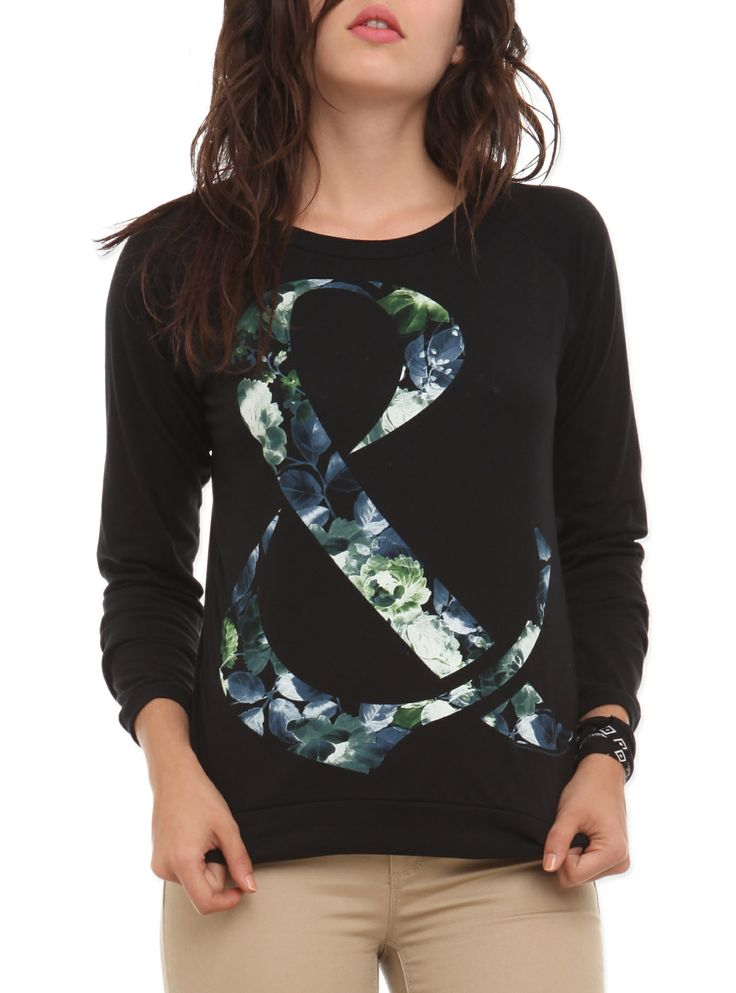 Of Mice & Men Floral Ampersand Girls Pullover Top | Hot Topic