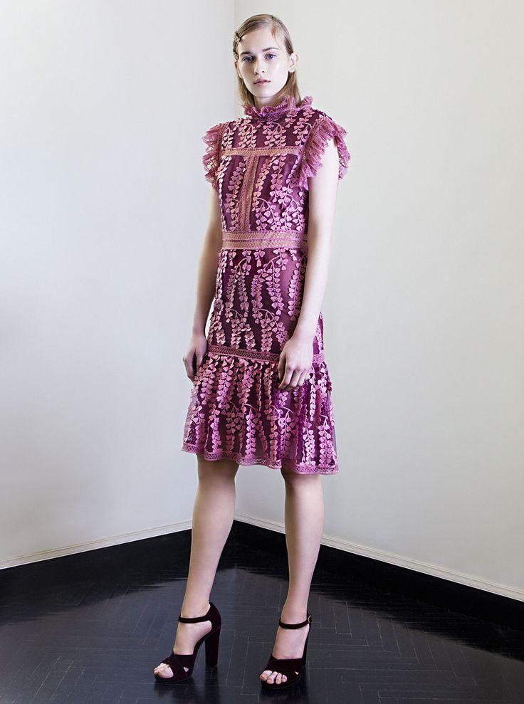 PR 1727 Sleeveless Embroidered Tulle Dress
