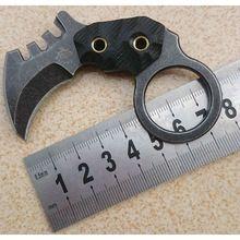 Celui Karambit Couteau Fixe AUS-8 Lame Couteau de Poche de Chasse Couteau de Survie Tactique Couteaux Camping En Plein Air Outils Kydex Gaine(China (Mainland))