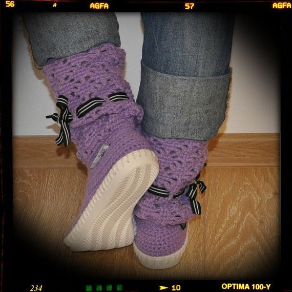 Crocheted Boots  Crochet boots Shoes for  Street by ukicrafts, €42.00