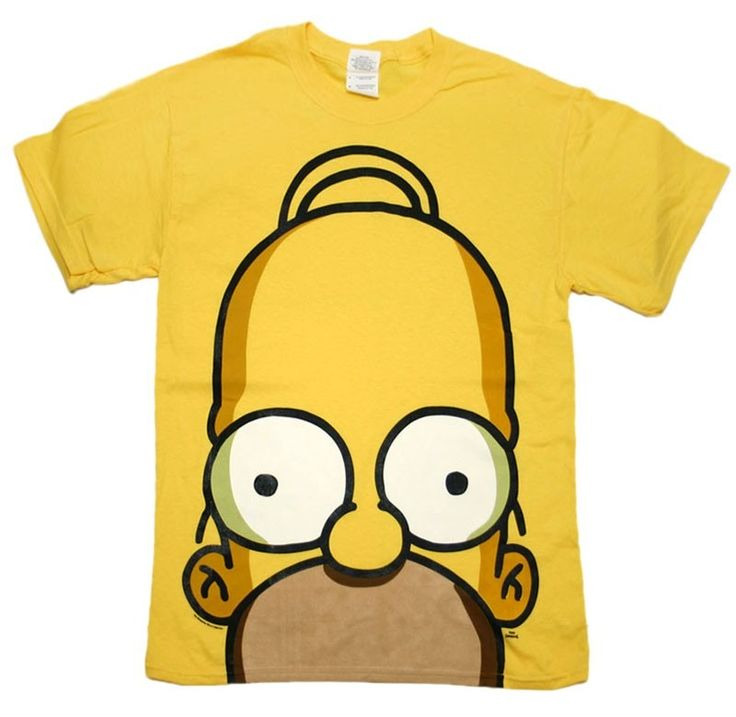 this shirt is has a pattern of homer simpson is yellow colored the shirt has short sleeves and the shirt is smooth there in medium sizes and girl colors there are yellow, pink, blue, red and green the price is $ 400 pesos