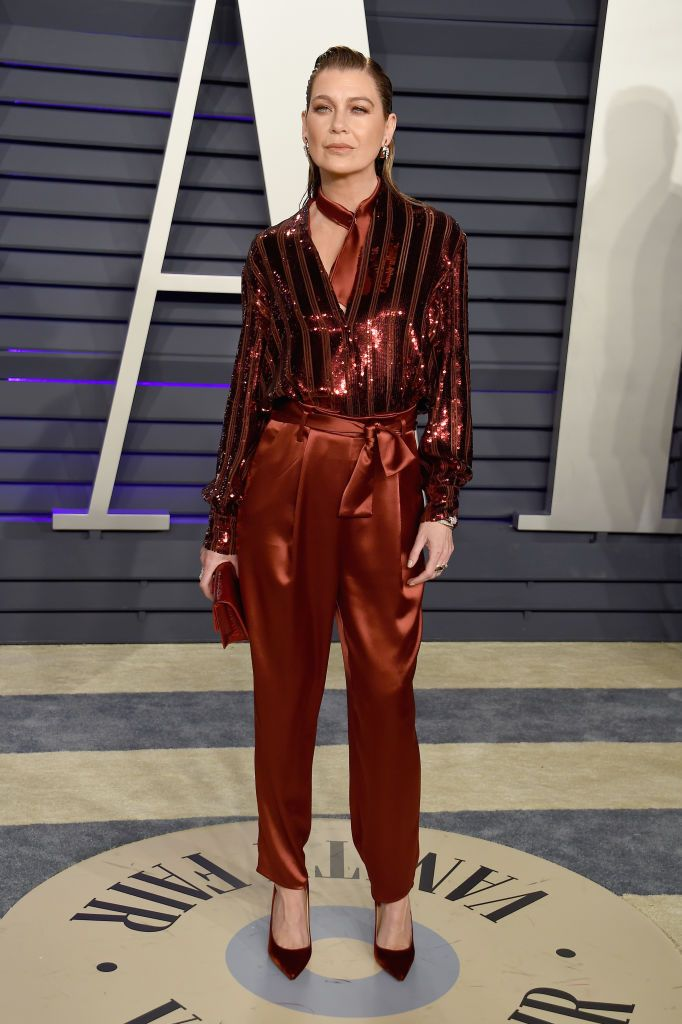 Ellen Pompeo attends the 2019 Vanity Fair Oscar Party hosted by... | Ellen  pompeo, Vanity fair oscar party, Office casual outfit