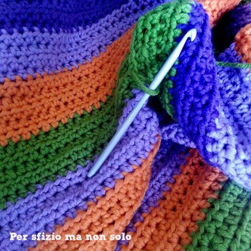 Per sfizio ma non solo: Crochet - coperta per letto singolo in lana fatta all'uncinetto
