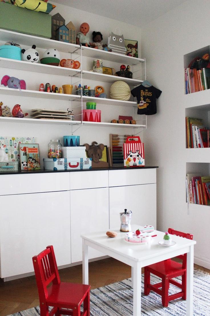Smart och snygg förvaring för barnrummet