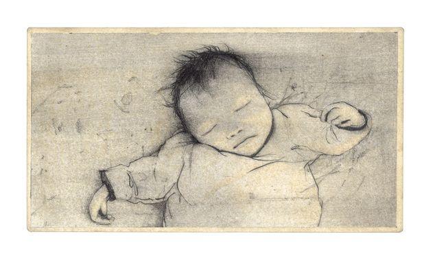 Rébecca Dautremer - Carte Jésus nouveau-né | Oeuvres | Galerie Robillard